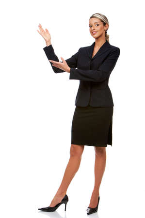 Sonriente joven mujer de negocios. Aisladas más de fondo blanco  Foto de archivo - 2505650