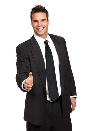 Friendly smiling businessman. Isolated over white background Stock Photo - 2774212