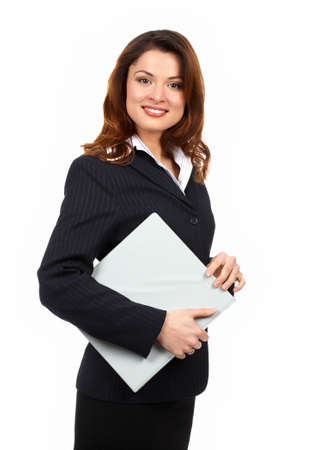Young smiling successful  business woman. Over white background Stock Photo - 2795916
