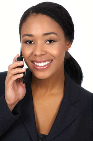 attractive business young woman calling by cellular phone. photo
