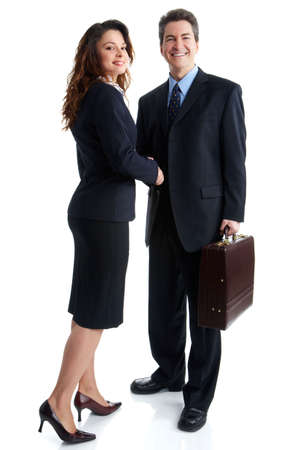 Young smiling  business woman meeting a man Stock Photo - 2807221