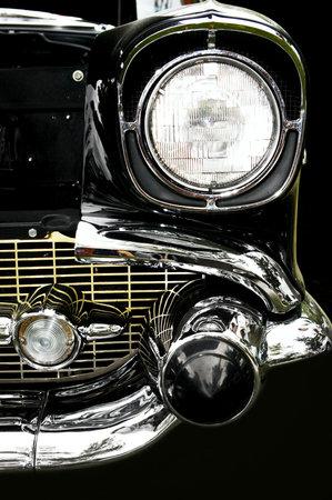 Vintage car. Close-up  photo