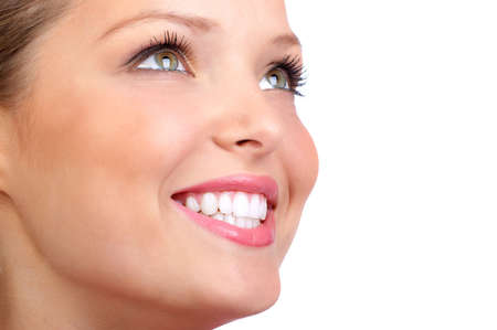 Smiling  young woman face with perfect  teeth. Stock Photo - 2904342