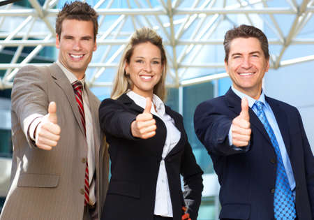 Business  meeting in the downtown. Businessmen and business woman Stock Photo - 3091863