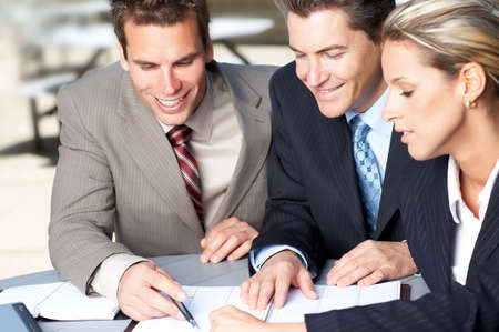 Business  meeting in the downtown. Businessmen and business woman Stock Photo - 3091961