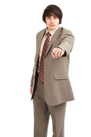 Young  businessman. Isolated over white background Stock Photo - 3091800