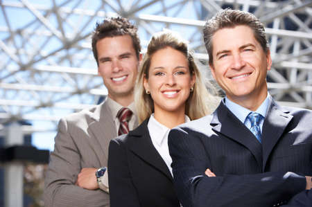 Business  meeting in the downtown. Businessmen and business woman Stock Photo - 3092021