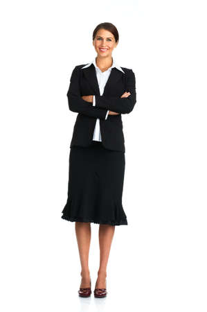 Smiling business woman. Isolated over white background Stock Photo - 3109861