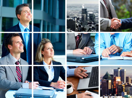 Business  meeting in the downtown. Businessmen and business woman Stock Photo - 3125086