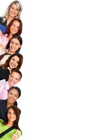 Smiling  businesswomen. Isolated over white background Stock Photo - 3173410