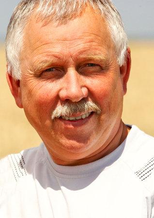Smiling happy elderly man  outdoor Stock Photo - 3382449