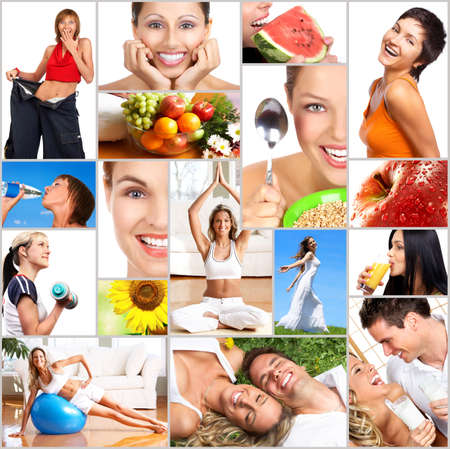 Healthy lifestyle. People, diet, healthy nutrition, fruits,  fitness Stock Photo - 3646689