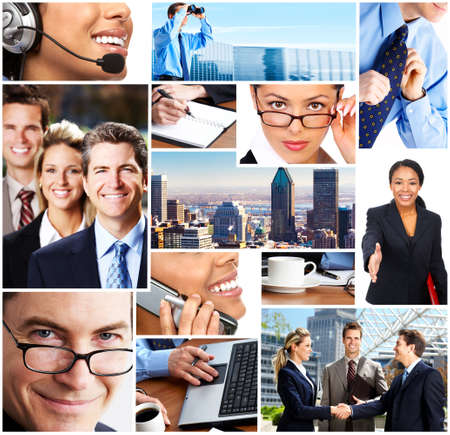 Business people meeting in the downtown. Businessmen and business woman Stock Photo - 3682208