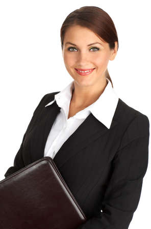Smiling business woman. Isolated over white background Stock Photo - 3784485