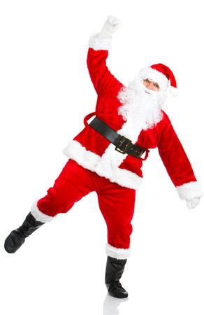 Happy Christmas Santa. Isolated over white background Stock Photo - 3784366