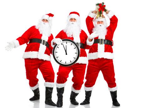 Happy Christmas Santa. Isolated over white background  photo