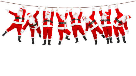 Funny Christmas Santa. Isolated over white background  photo