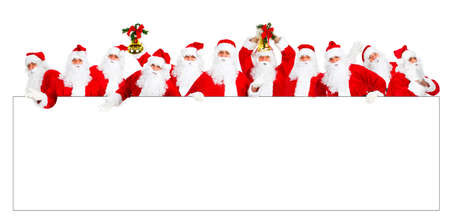 Happy Christmas Santa. Isolated over white background  photo