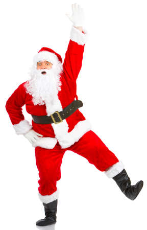 Happy Christmas Santa. Isolated over white background Stock Photo - 3820628
