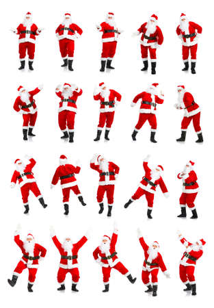 Happy Christmas Santa. Isolated over white background Stock Photo - 3853858