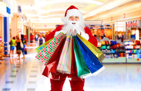beauty shop: Shopping Christmas Santa in the mall