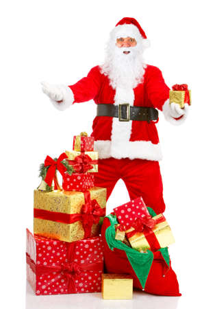 Happy Christmas Santa. Isolated over white background Stock Photo - 3934189