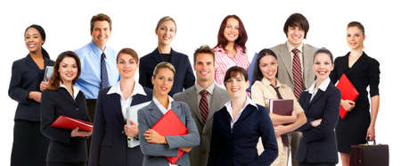 Smiling  business people. Isolated over white background Banco de Imagens - 4080197