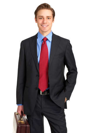 Young  smiling businessman. Isolated over white background Stock Photo - 4108753
