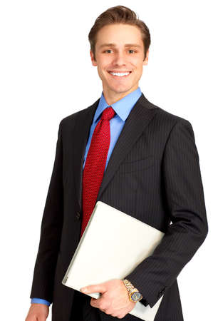Young  smiling businessman. Isolated over white background Stock Photo - 4108778
