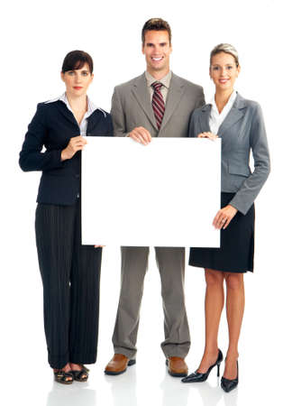 Young smiling  business people. Isolated over white background Stock Photo - 4108560