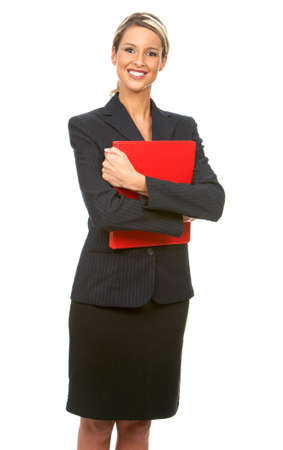 Smiling business woman. Isolated over white background Stock Photo - 4108502