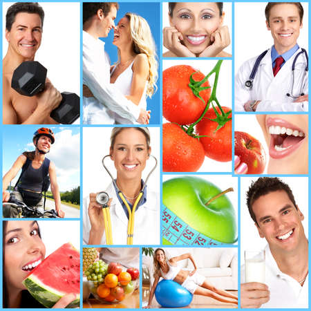 People, health, diet, healthy nutrition, food,  fruits,  fitness, medical doctor Stock Photo - 4137161