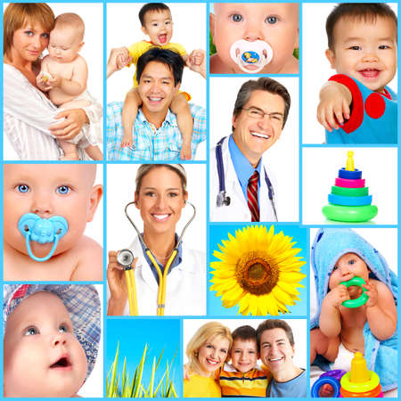 pediatrics: Mother, baby, children, family, health, doctor, medicine  Stock Photo