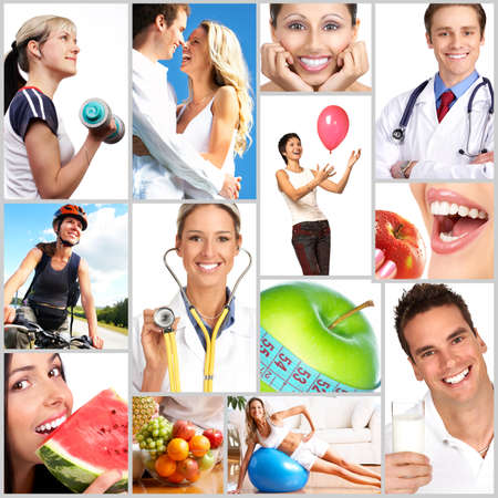People, health, diet, healthy nutrition, food,  fruits,  fitness, medical doctor Stock Photo - 4198398