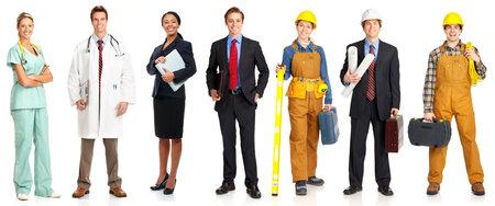 Businessman, builder, nurse, architect. Isolated over white background Stock Photo - 4198395
