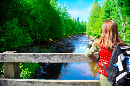 Young tourist woman  Stock Photo - 4347384