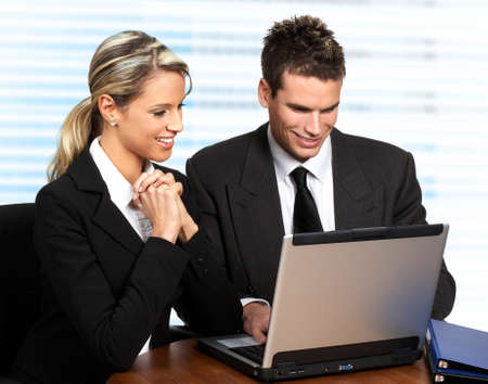 Business people working with laptop  photo