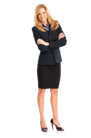 Smiling business woman. Isolated over white background Stock Photo - 4487388