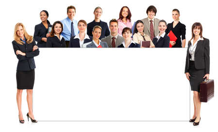 Smiling  business people. Isolated over white background Stock Photo - 4500091