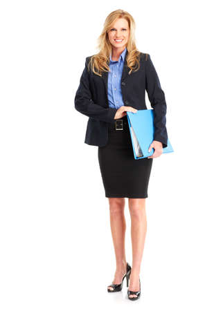 Smiling business woman. Isolated over white background Stock Photo - 4573650