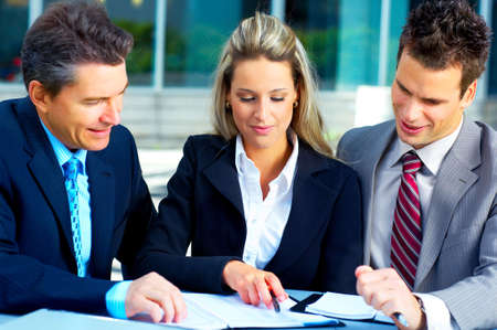 Business people meeting in the downtown. Stock Photo - 4668369