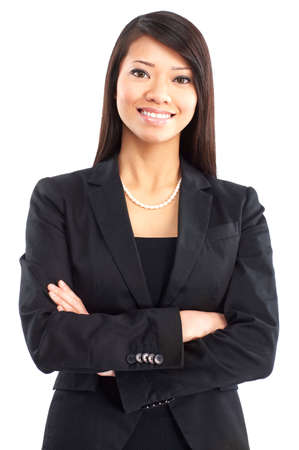 Smiling business woman. Isolated over white background Stock Photo - 4752095