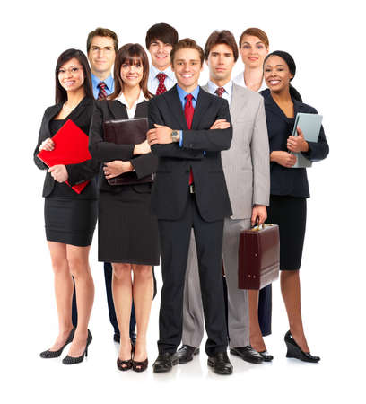 group of young smiling business people. Over white background Stock Photo - 4780757