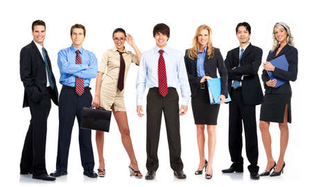 group of young smiling business people. Over white background Stock Photo - 4780777