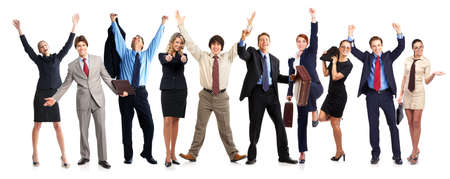 group of young smiling business people. Over white background Stock Photo - 4780769