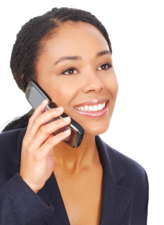attractive young business woman calling by cellular phone.  photo
