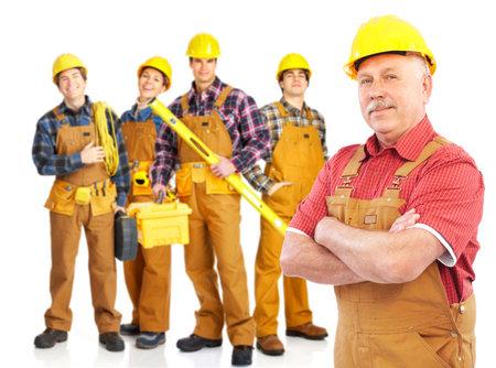 Industriearbeiter Menschen. Isolated over white background Standard-Bild - 5493709