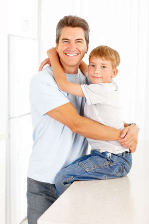 Happy family. Father and son  Stock Photo