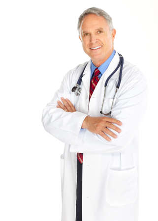 Smiling medical doctor with stethoscope. Isolated over white background Reklamní fotografie - 5614779