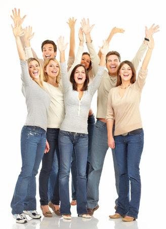 Happy funny people. Aislado sobre fondo blanco Foto de archivo - 5641988